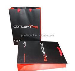 Black red colour printed paper bag, advertising paper bag printing
