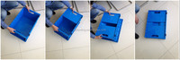 PP/PE/HDPE meterial plastic fish container can foldable
