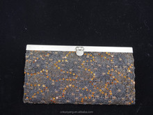 alloy side fabric shell lady's fashion wallet