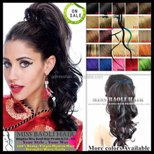 Alibaba Trade Assurance Paypal Accepted Soft No Frizzy Grade 6A Temple Indian Remy Hair Ponytail
