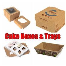 Paper Cardboard Birthday Cake Box, Luxury UV Offset Printing Packaging Carton Supplier