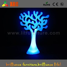 2015 best fashionable LED illuminated plastic christmas decorations tree GD402