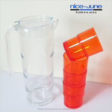 Plastic pitcher cup set Pitcher with glass Pitcher and Cup set