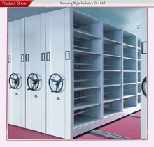 compact movable shelving/mobile mechanical sliding compact shelves/heavy duty manual operated moveable storage