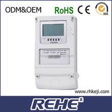 LCD Display 3 phase Digital Kwh Meter with wide current and voltage range (DTSD3666)