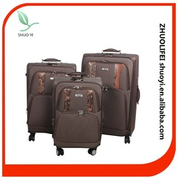 2015 polyester material travel luggage bulk luggage set with 4 wheels