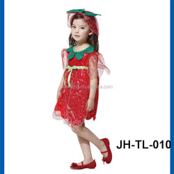 Girl's fruit vegetables pumpkin costume