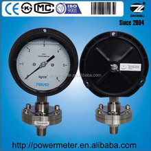 High quality polypropylene case special pressure gauge with diaphragm seal