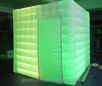 cheap colorful inflatable led portable photobooth kiosk for sale blow up money catching machine inflatable photo booth