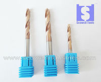 4mm (4D*50L) Micro grain solid Tungsten carbide CNC Twist Drill Bits HRC55,Carbide Drill bits For Metal working