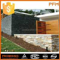 Natural hign quality luxury beautiful decoration rusty slate veneer stacked ledge culture stone