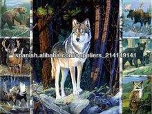 Cartel 3D Animal salvaje