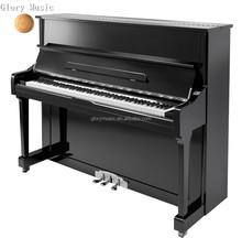 Black vertical Upright Piano HU-121E