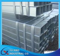 erw galvanized rectangular pipe standard dimensions