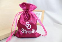 2015 new satin drawstring bag & jewelry satin pouch