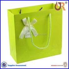 alibaba china Custom paper handle shopping bag with bowknot