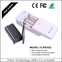 2014 new arrival universal portable cellphone battery charger