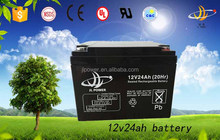 Sealed lead acid battery 12v 24ah, deep cycle battery for sale, solar energy storage battery 12v 24ah VRLA AGM battery