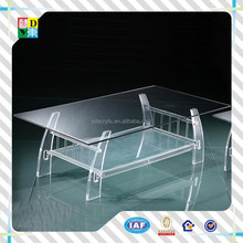 transparent acrylic living room low height coffee table/cheap glass&acrylic coffee table/good quality cheap