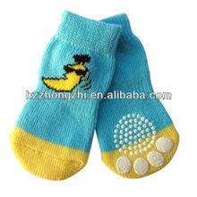 bebé de algodón para perros de suela de goma calcetín del zapato