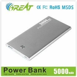 2015 Fast Charging Mobile Charger Portable Super Slim Power Bank 5000mAh For Smartphones