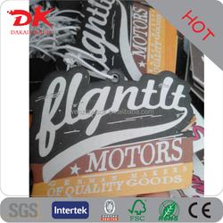 Custom long lasting Die cut letters auto air freshener in motor car logo