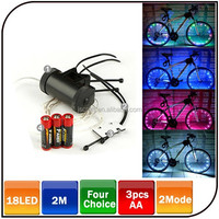 Coolest christmas gift 18LED outdoor bike wheel light bicycle wheel decoration