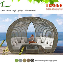 TG15-0167 Luxury outdoor furniture for relaxing rattan lounge beds