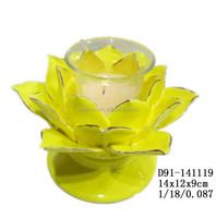 Wholesale ceramic lotus flower votive tealight candle holder for sale