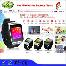 2015 Wholesales Bluetooh Pedometer S29 Smart Watch Mobile Phone Support for Samusung Android and IOS Phone
