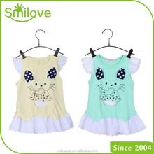 luminoso colore del ricamo bambini moda esportazione carnevale 2015 bambino estate vestito di compleanno per bambina