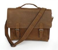 """Drop Shipping Top Grade Multifunctional Fashion Vintage Style Genuine Leather Laptop Bags Fit For 14"""" Laptops #7035B"""