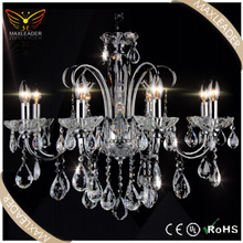 classic glass crystal hanging decorative candle chandelier