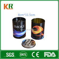 Smoking ashtray tin box /Cigarette ash tin box with hole lid