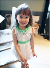 The latest summer princess cotton bud silk skirt of the girls children fashion dress