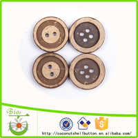 mixed color coconut shell concentric 2-hole buttons