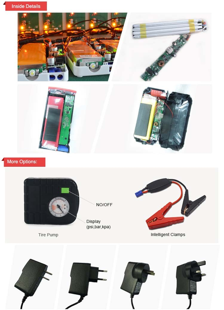 The queen of quality mp4 direct selling automobile mini car jump starter