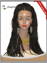 Wholesale 100% Hand Made front lace wig braided wig Brazilian Human Hair Wigs