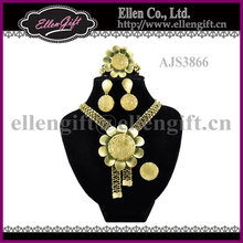 African Gold Plated Jewelry Set AJS3866
