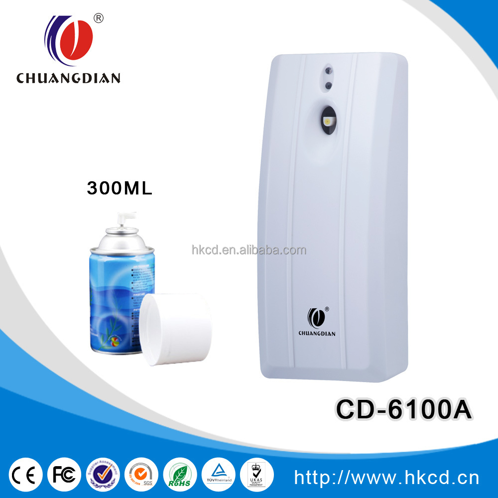 Chuangdian Hot Sale Wall Mounted Automatic Aerosol Dispenser Air Freshener Dispenser Cd 6100b