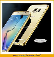 Waterproof aluminum metal case for Samsung s6 edge plus With Mirror back cover