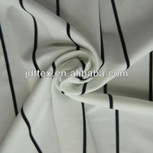 White black stripes fabric, spandex nylon polyester blending knitted garments fabric