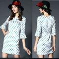 Campana para mujer de la manga vestido de puntos, vestido de tejido de china de fábrica