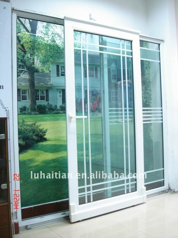 UPVC Four Panel Sliding Door With Fly Screen
