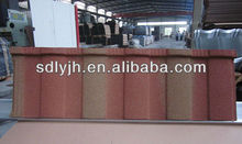 shandong high strength clay roof tile, colorful stone coated flat building materials