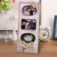 decor resin multi picture frame manufacturer 3 boxes pastoral style for wedding collage baby 0.4kg 12cm x 27cm BY001
