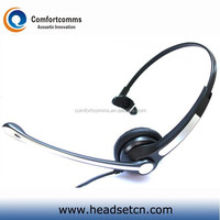 Super lightweight noise cancelling call center headset boom microphone