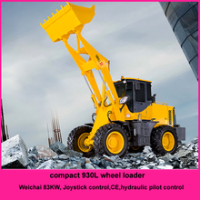 Qingzhou China 3 Ton Wheel Loader Mini Articulated Wheel Loader With CE 930L