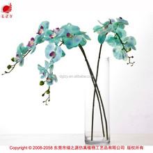 Seda Artificial blue orquídeas orquídeas artificiais flor atacado