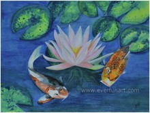hot sale design modern fish oil painting for wholesale